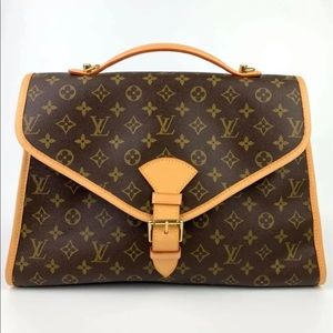 🌺NEW COWHIDE🎊Louis Vuitton Beverly Briefcase 💼